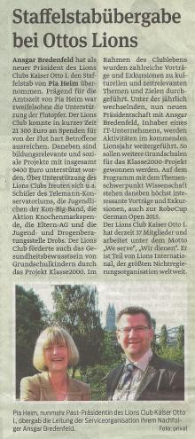 Magdeburger Volksstimme - 26.6.2014